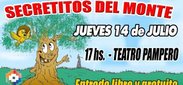 """Llega a Guatraché Teatro infantil para las vacaciones de Invierno;""""Secretitos del Monte"""" Jueves 14 de julio 17 horas Teatro Pampero, entrada libre y gratuita. """"Secretitos del Monte"""" basada en el […]"""