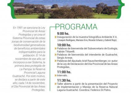 ACTO ESTE LUNES 14 EN GUATRACHE Imponen Día de las Áreas Protegidas El Día Provincial de las Áreas Protegidas será declarado este lunes 14 de noviembre, mediante un acto oficial […]